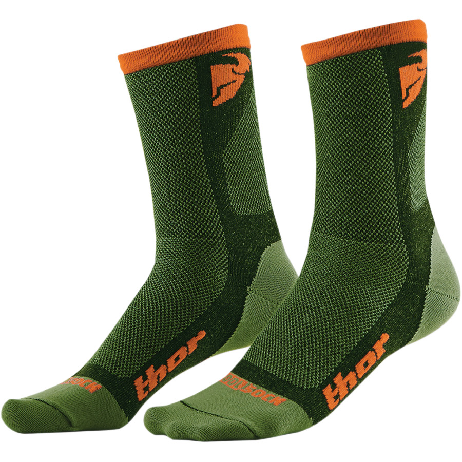 Ponožky THOR DUAL SPORT SOCK GREEN/ORANGE