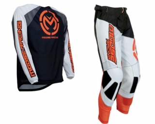 A Motokrosový komplet MOOSE RACING M1 BLACK/ORANGE vel. 40+3XL