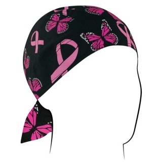 Šátek na hlavu ZANHEADGEAR FLYDANNA HEADWRAPS Breast cancer ribbon