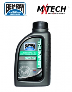 Olej BEL-RAY THUMPER RACING SYNTHETIC ESTER BLEND 4-STROKE ENGINE OIL 10W-40 1 L