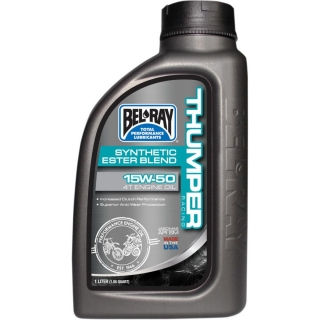 Olej BEL-RAY THUMPER RACING SYNTHETIC ESTER BLEND 4-STROKE ENGINE OIL 15W-50 1 L