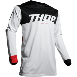 Motokrosový dres THOR PULSE AIR FACTOR WHITE/RED