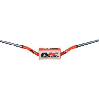A Řidítka na motocykl NEKEN HANDLEBAR SFH VARIABLE DIAMETER CONICAL DESIGN ORANGE WHITE
