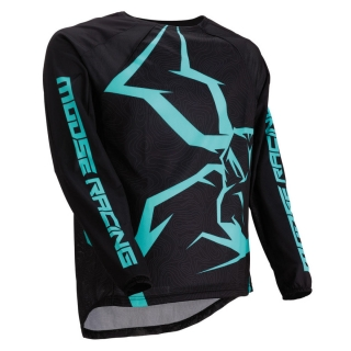 Motokrosový dres MOOSE RACING M1 AGROID MINT/BLACK