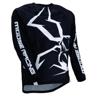 Motokrosový dres MOOSE RACING M1 AGROID WHITE/BLACK