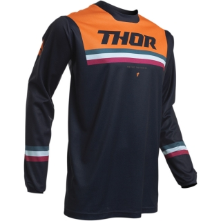 Motokrosový dres THOR PULSE PINNER MIDNIGHT/ORANGE
