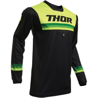 Motokrosový dres THOR PULSE PINNER BLACK/ACID