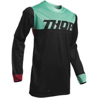 Motokrosový dres THOR PULSE AIR FACTOR BLACK/MINT